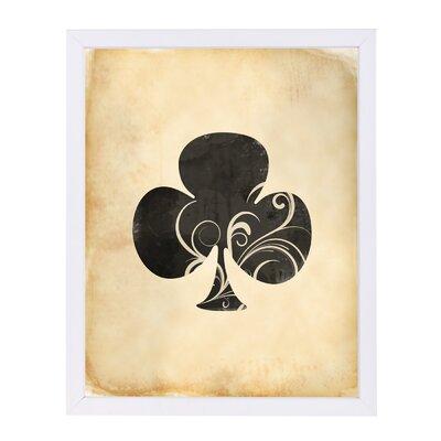 'Playing Card Clubs' by Indigo Sage Framed Graphic Art ESRB8207 36974174