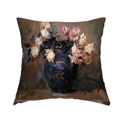 Fragrant Rose Petals Throw Pillow Size: 16 H x 16 W x 1.5 D