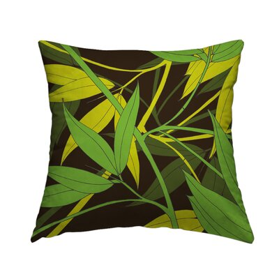 Green Ice Throw Pillow Size: 16