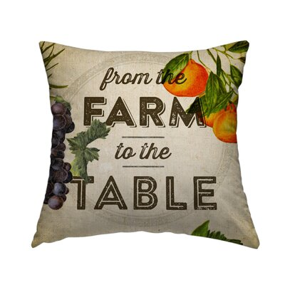 Farm to Table Set Throw Pillow Size: 20 H x 20 W x 1.5 D