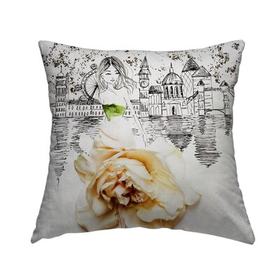 Lovely London Throw Pillow Size: 16 H x 16 W x 1.5 D