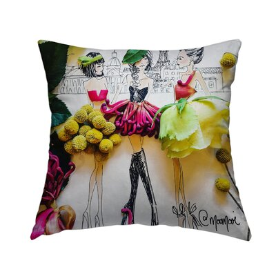 Parisians Throw Pillow Size: 14 H x 14 W x 1.5 D