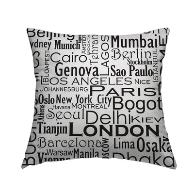 Cities of the World Throw Pillow Size: 20 H x 20 W x 1.5 D