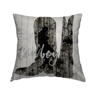 Cowboy Throw Pillow Size: 14 H x 14 W x 1.5 D