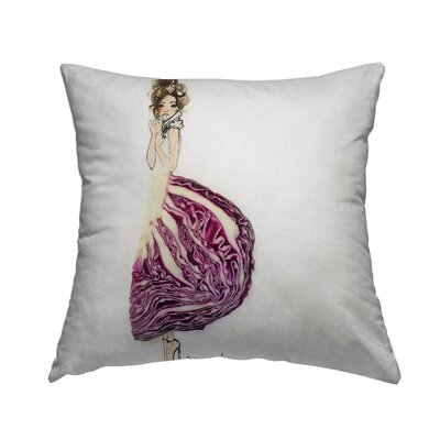 Cab Bage Chic Throw Pillow Size: 16 H x 16 W x 1.5 D