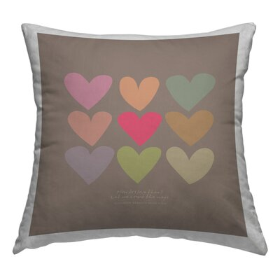 Love Thee Hearts Throw Pillow Size: 18 H x 18 W x 2 D