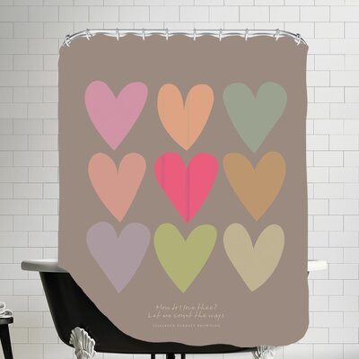 Love Thee Hearts Shower Curtain