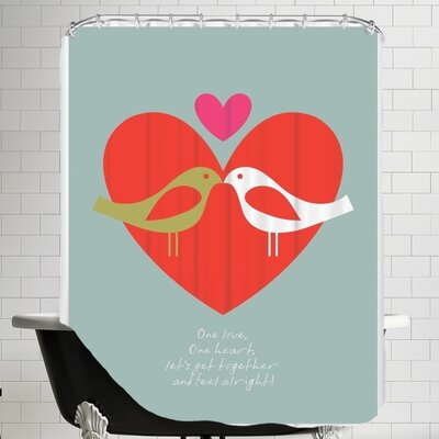 Birds One Love Shower Curtain