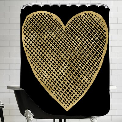 Heart Crosshatched Shower Curtain