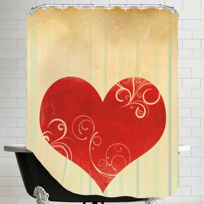Playing Card Hearts Shower Curtain