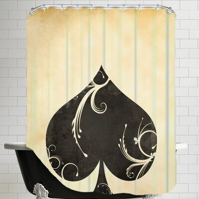 Playing Card Spades Shower Curtain