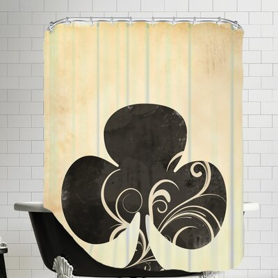 Playing Card Clubs Shower Curtain