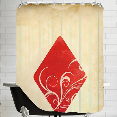 Playing Card Diamonds Shower Curtain
