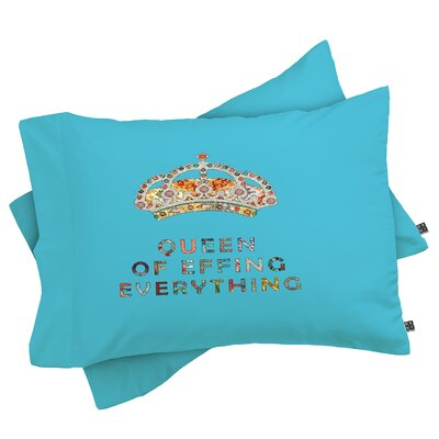 Her Daily Motivation Pillowcase Color: Blue, Size: Standard