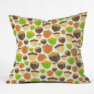 Acorns Throw Pillow Size: 18 H x 18 W x 5 D