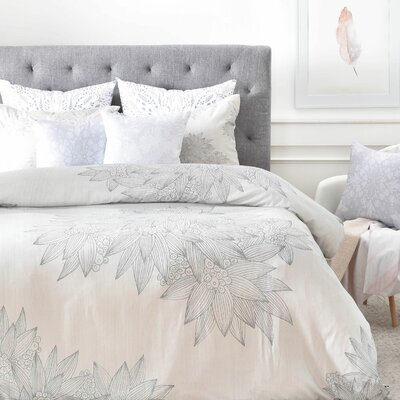 Duvet Cover Set Color: Gray, Size: Queen