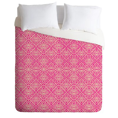Duvet Cover Set Size: Queen, Color: Pink