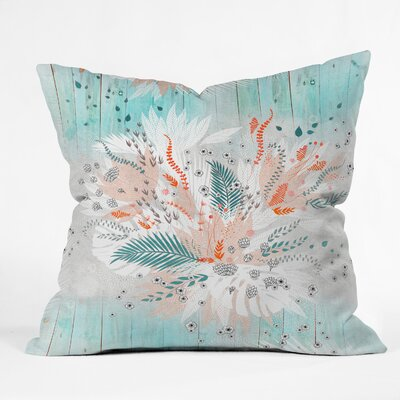 Throw Pillow Size: 18 H x 18 W x 5 D, Color: Teal