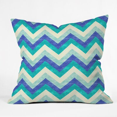Chevron Ocean Indoor/Outdoor Throw Pillow Size: Small