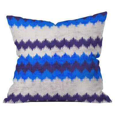 Chevron Indoor/ Outdoor Throw Pillow Size: 20 x 20