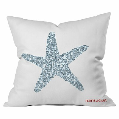 Nantucket Starfish Indoor/Outdoor Throw Pillow Size: 16 x 16