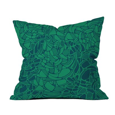 Carillon Peacock Emerald Indoor/ Outdoor Throw Pillow Size: 18 x 18