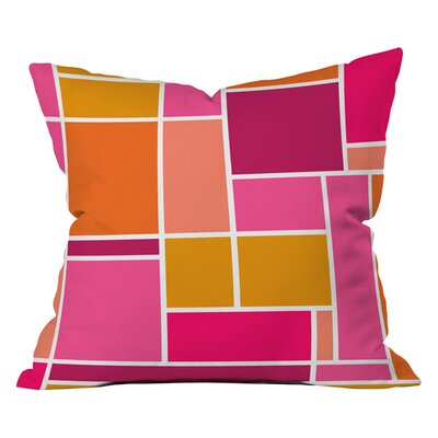 Caroline Okun Sunset Grid Indoor/Outdoor Throw Pillow Size: 18 x 18