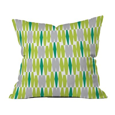 Abacus Emerald Indoor/Outdoor Throw Pillow Size: 18 x 18
