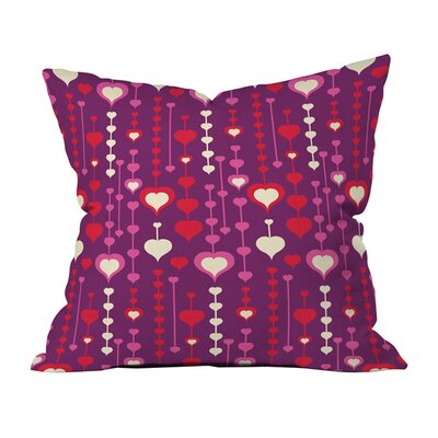 Falling in Love Indoor/Outdoor Throw Pillow Size: 18 x 18