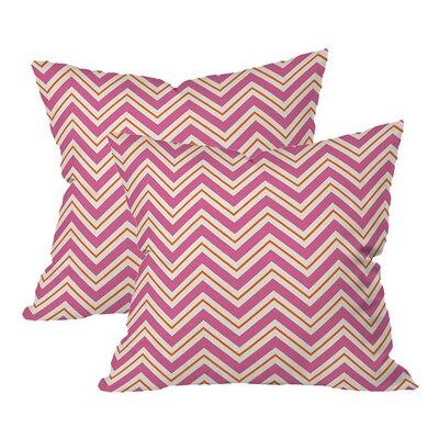 Pop Chevron Indoor/Outdoor Throw Pillow (Set of 2)