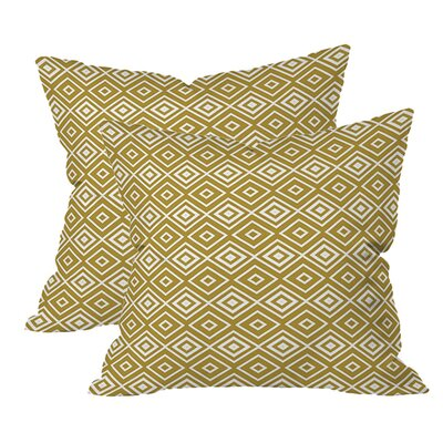 Diamonds are Forever Indoor/Outdoor Throw Pillow (Set of 2) Color: Sand