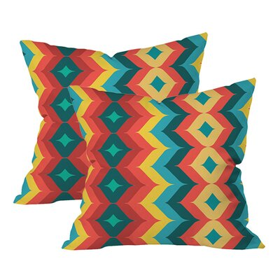 Chevron Indoor/Outdoor Throw Pillow (Set of 2)