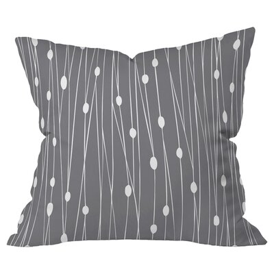 Entangled Indoor/Outdoor Throw Pillow (Set of 2) Color: Gray