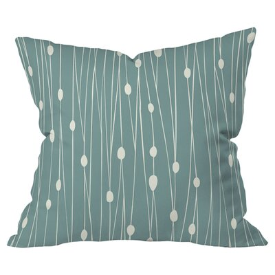 Entangled Indoor/Outdoor Throw Pillow (Set of 2) Color: Blue
