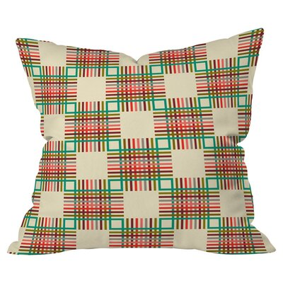 Cross Hatch Indoor/Outdoor Throw Pillow