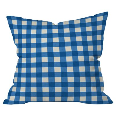 Gingham Indoor/Outdoor Throw Pillow Color: Blue/White