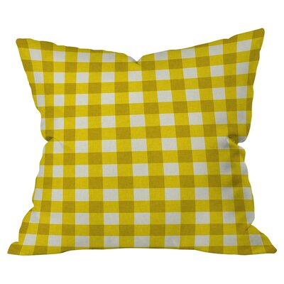 Gingham Indoor/Outdoor Throw Pillow Color: Yellow/White