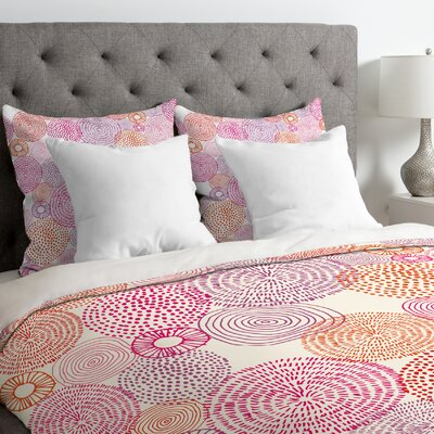 Camilla Foss Circles Duvet Cover Size: Queen, Fabric: Lightweight