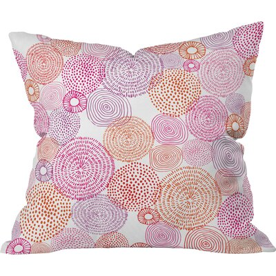 Circles in Colors I Throw Pillow Size: Large
