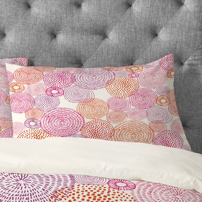 Circles In Colours I Pillowcase Size: King