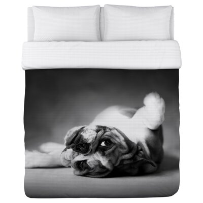 Tickle Me Pup - Lightweight Duvet Cover Size: Full/Queen