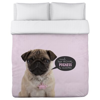 Pugness - Lightweight Duvet Cover Size: Full/Queen