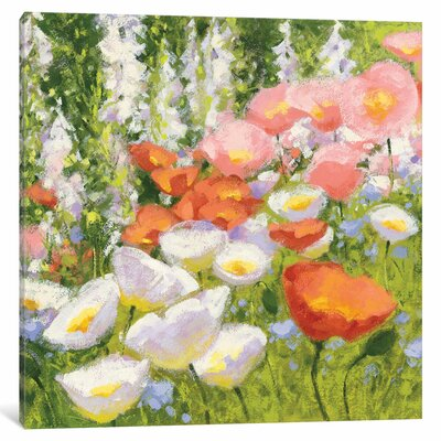 'Garden Pastels II' Painting Print on Canvas Size: 12