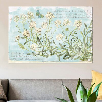 'Botany Blue I' Graphic Art Print on Canvas Size: 12