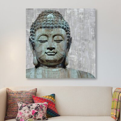 """'Meditative I' Graphic Art Print on Wrapped Canvas Size: 37"""" H x 37"""" W x 0.75"""" D"""