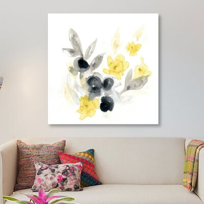 'Citron Bouquet II' Painting Print on Wrapped Canvas