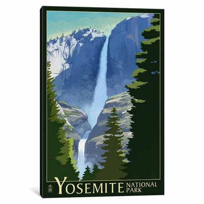 'U.S. National Park Service Series: Yosemite National Park (Yosemite Falls I)' Vintage Advertisement on Canvas ESUR8473 37470570