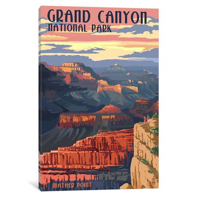'U.S. National Park Service Series: Grand Canyon National Park (Mather Point)' Vintage Advertisement on Canvas ESUR8526 37470934