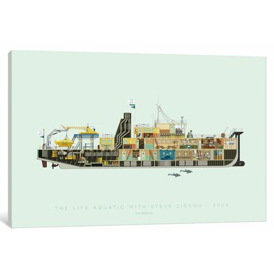 'Famous Hollywood Settings Series: The Life Aquatic with Steve Zissou' Graphic Art Print on Canvas ESUR5543 37443733