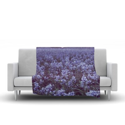 Bluebell Forest by Ann Barnes Fleece Blanket Size: 80 L x 60 W